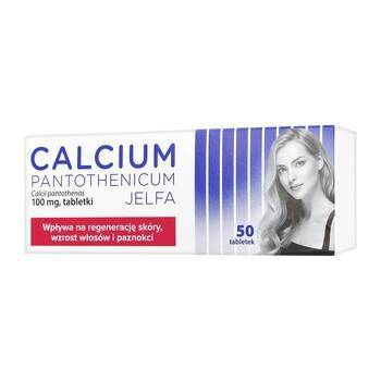CALCIUM PANTOTHENICUM JELFA 100MG 50 TABLETEK