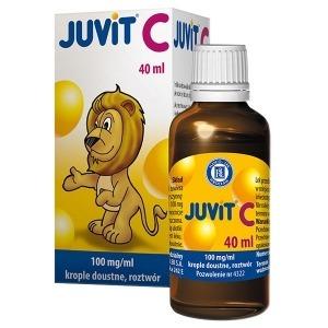 JUVIT C KROPLE DOUSTNE 0,1G/1ML 40ML